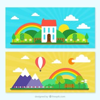 Printemps Paysages Paquet