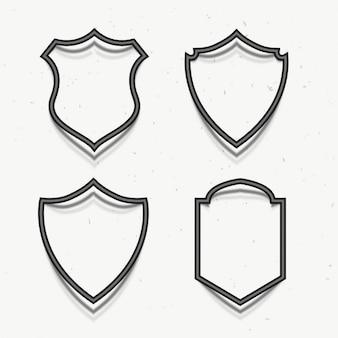 Prix insignes symbole dans le style 3d