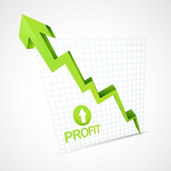 Profit arrow going up illustration vectorielle