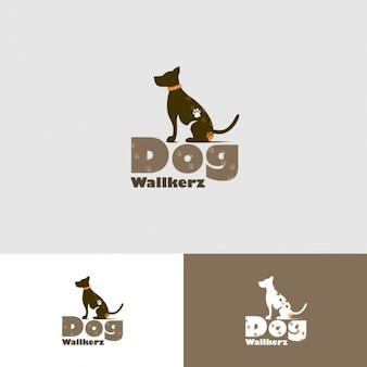 Promeneurs pour chiens Logo Template