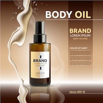 Publicité sur l'huile corporelle