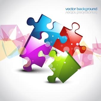 Puzzle coloré eps10 fond d'écran design d'illustration vectorielle