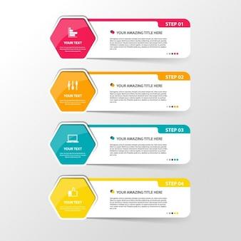 Quatre bannières infographique