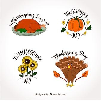 Quatre designs de thanksgiving
