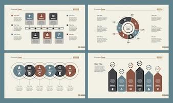 Quatre modèles de diapositives de comptabilité