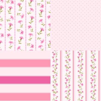 Quatre motifs floraux