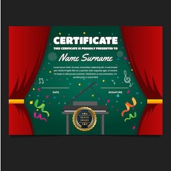 """""""Cute Children Music Certificate"""""""