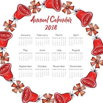 """Red Rose Wreath Calendar 2018"""