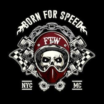 Racing skull background