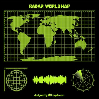 Radar carte du monde