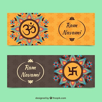 Ram Navami abstract banners