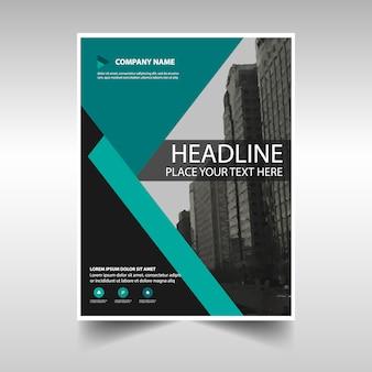 Rapport annuel de création vert modèle de couverture du livre