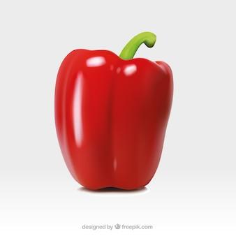Réaliste poivron rouge