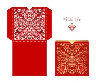 Red box, boîte sred ethnique ornamenttyle