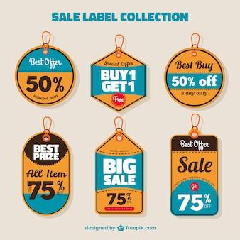 Remise étiquettes collection