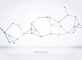 Réseau abstrait réseau numérique wireframe fond de vecteur mesh