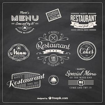 Restaurant badges rétro