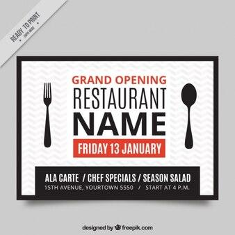 Restaurant est ouvert brochure créative