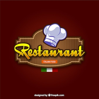Restaurant italien fond