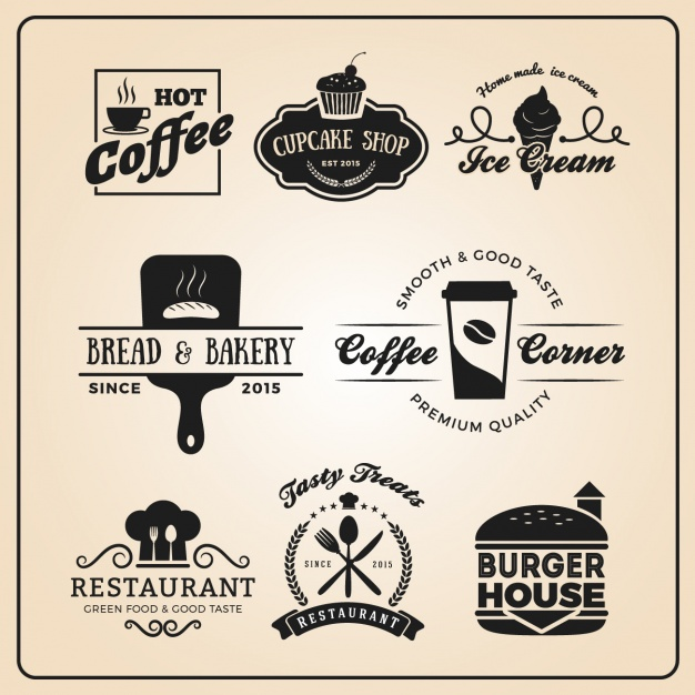 Restaurant logo templates collection