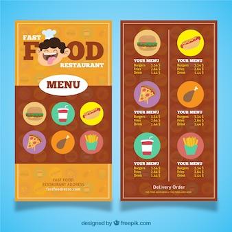 Restauration rapide restaurant menu