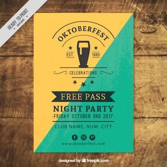 Résumé affiche vintage de oktoberfest