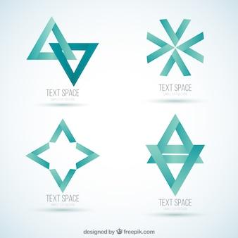 Résumé collection de logos de menthe
