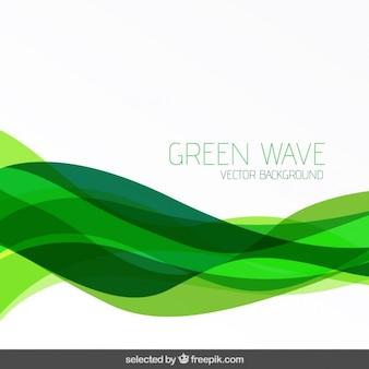 Résumé de fond avec des vagues vertes