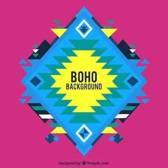 Résumé de fond Boho dans la conception plate