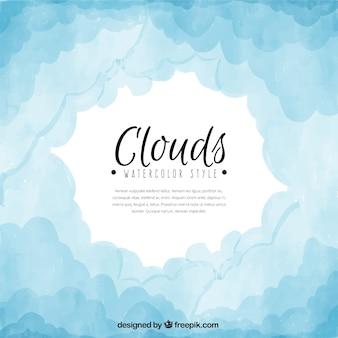 Résumé de fond de nuages à l'aquarelle