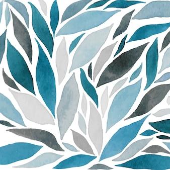 Résumé de la composition des vagues d'aquarelle