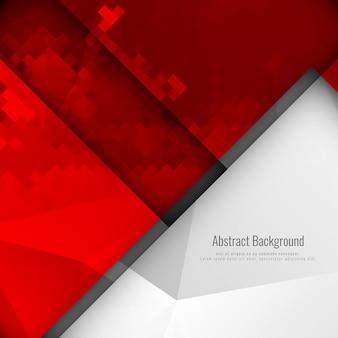 Résumé de la mosaïque géométrique de la couleur rouge abstraite