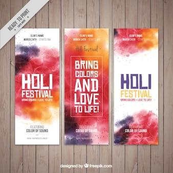 Résumé des bannières festival Holi