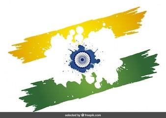Résumé drapeau indien