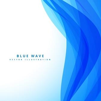 Résumé fond bleu avec des vagues