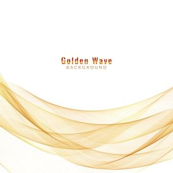 Résumé fond d'onde d'or