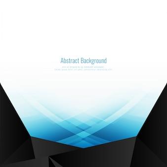 Résumé fond polygonale ondulé bleu