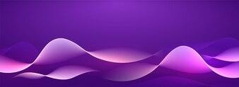Résumé fond violet avec des vagues.