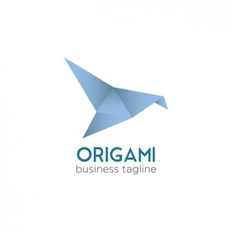 Résumé logo avec style origami