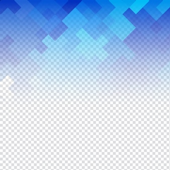 Résumé mosaïque bleu fond transparent