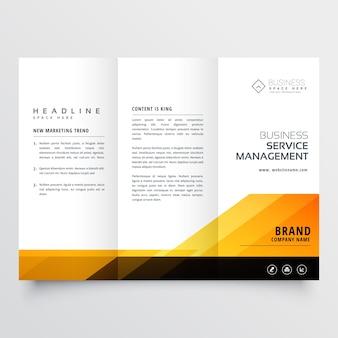 Résumé orange et noir tri fold brochure design business business template