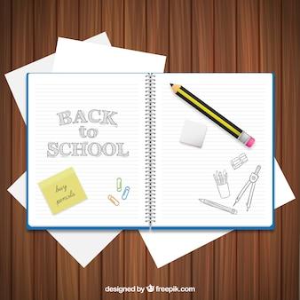 Retour au cahier d'écolier
