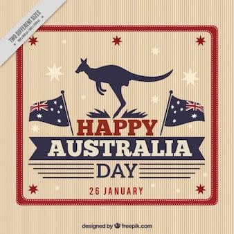 Rétro Australie day background