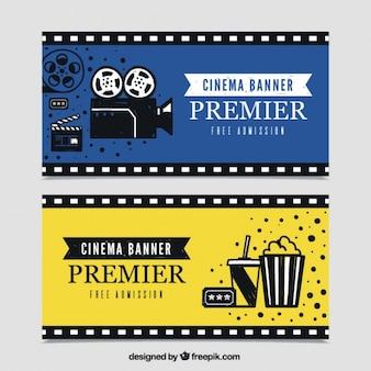 Rétro bannières de cinéma