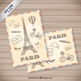 Rétro carte postale de Paris
