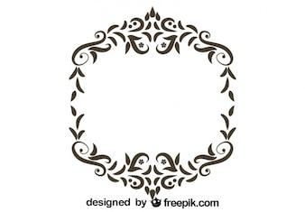 Rétro conception florale cadre ornemental