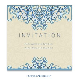 Rétro invitation dans le style d'ornement