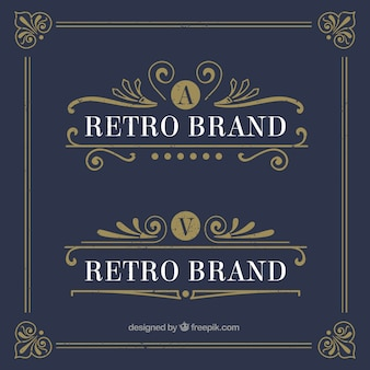 Rétro logo templates
