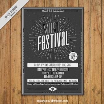 Retro music dépliant du festival
