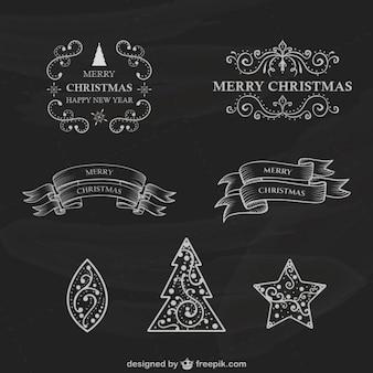 Rétro Noël étiquettes collection
